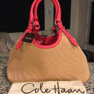 ✨NEW✨SALE!✨Cole Haan Genevieve NWT! RARE Woven Bag